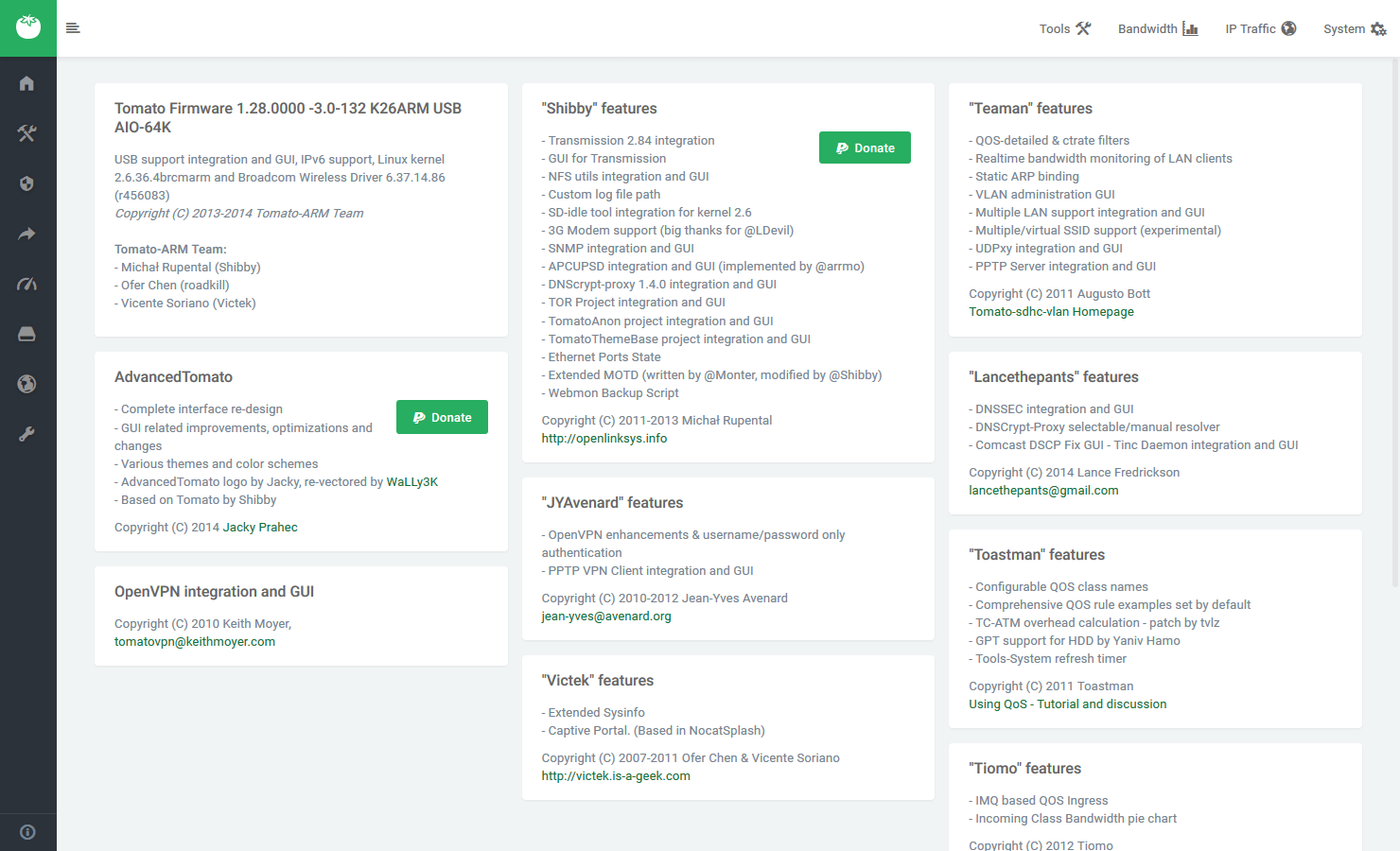 AdvancedTomato :: Open Source Broadcom Firmware